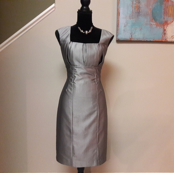 9714cb889ba Calvin Klein Dresses   Skirts - Calvin Klein  Silver Sleeveless  Sheath  Dress